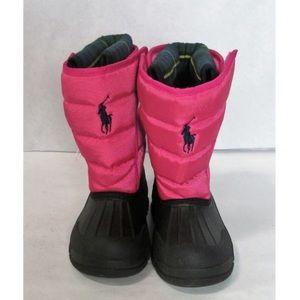 Ralph Lauren Polo Girl's Snow Boots Size 10